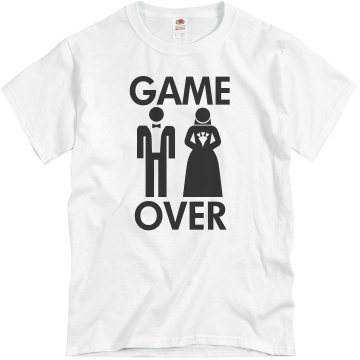 Game Over Unisex Basic Gildan Heavy Cotton Crew Neck Tee