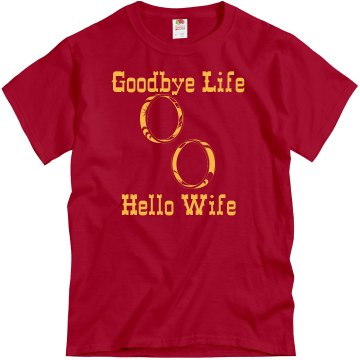 Goodbye Life Rings Unisex Gildan Heavy Cotton Crew Neck Tee