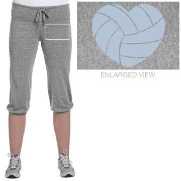 Cal High Volleyball Junior Fit Bella French Terry Lounge Pants