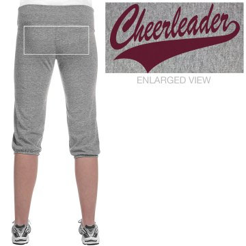Cheerleader Script Junior Fit Bella French Terry Lounge Pants