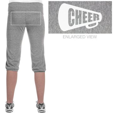 Cheer Megaphone Pants Junior Fit Bella French Terry Lounge Pants