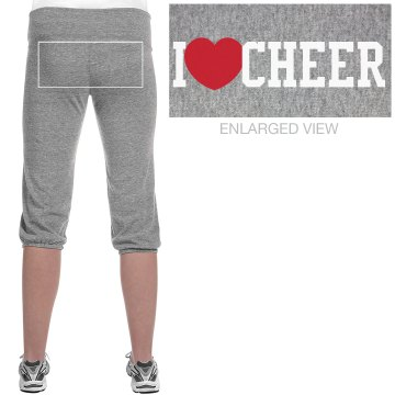 I Love To Cheer Junior Fit Bella French Terry Lounge Pants