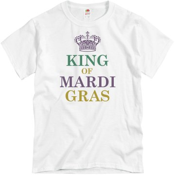 King Of Mardi Gras Unisex Basic Gildan Heavy Cotton Crew Neck Tee