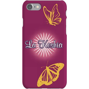 Butterfly Name iPhone Plastic iPhone 5 Case Black