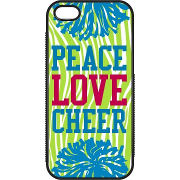 Peace Love Cheer Plastic iPhone 5 Case Black