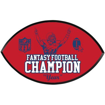 Fantasy Football Champ Football Wood Plaque