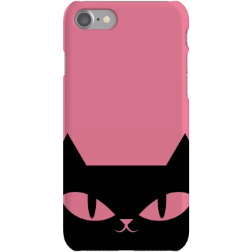 Cat iPhone Case Plastic iPhone 5 Case Black