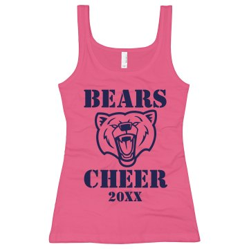 Bears Cheerleading Junior Fit Bella Sheer Longer Length Rib Racerback Tank Top