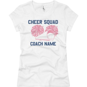 Cheer Coach Tee Junior Fit Basic Bella Favorite Tee