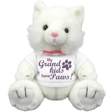 Grandkids Have Paws Plush Kitty Cat