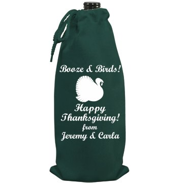 Thanksgiving Hostess Wine Port Authority Wine Bag