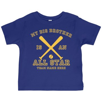Big Brother All Star Toddler Gildan Ultra Cotton Crew Neck Tee