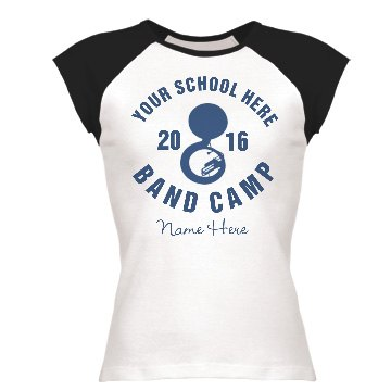 Band Camp Tee Junior Fit Bella 1x1 Rib Ringer Tee