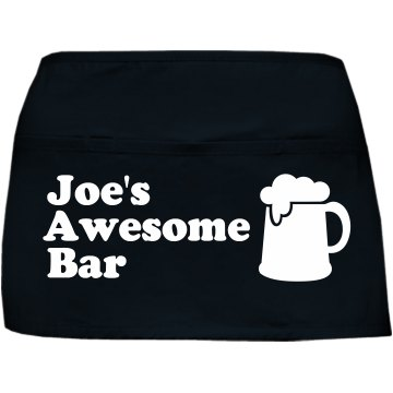 Custom Bar Waist Apron Port Authority Waist Apron with Pockets