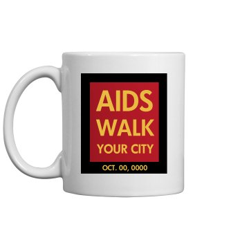 Aids Awareness Walk Promo 11oz Ceramic Coffee Mug