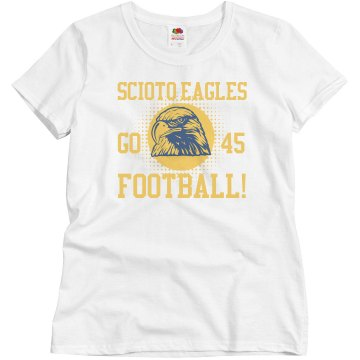 Scioto Eagles Football Junior Fit Brightline 3&#x2F;4 Sleeve Jersey Tee
