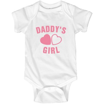 Daddys Girl Infant Rabbit Skins Lap Shoulder Creeper