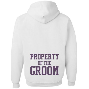 Property Of Groom w/Back Unisex Gildan Heavy Blend Hoodie