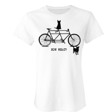 Not So Clever Cats Junior Fit American Apparel Fine Jersey Tee