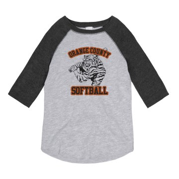 Tiger Softball Ringer Youth Anvil Ringer Tee