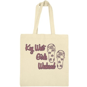 Girls Weekend Tote Liberty Bags Canvas Bargain Tote Bag