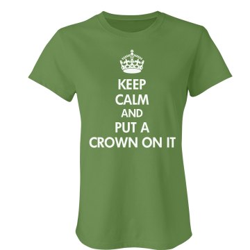 Portland Keep Calm On It Junior Fit Bella Crewneck Jersey Tee