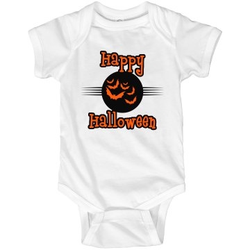 Happy Halloween Onesie Infant Rabbit Skins Lap Shoulder Creeper