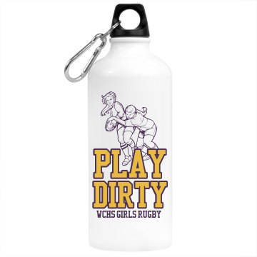 Girls Rugby Bottle Aluminum Water Bottle