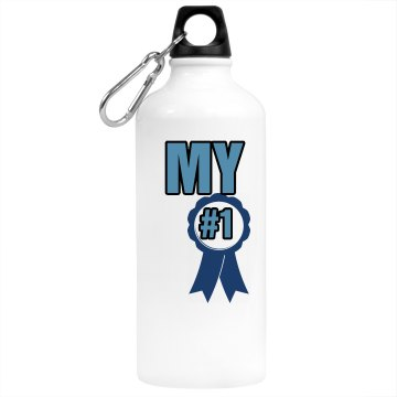 My Number One Aluminum Water Bottle