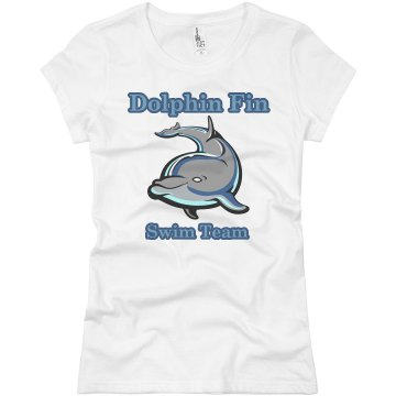 Dolphin Swim Team Junior Fit Basic Bella Favorite Tee