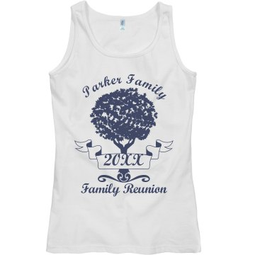 Parker Family Reunion Junior Fit Bella Sheer Longer Length Rib Tee