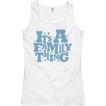 It's A Family Thing Junior Fit Bella 1x1 Rib Ringer Tee