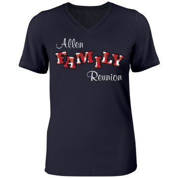 Allen Family Reunion Misses Relaxed Fit Anvil V-Neck Tee