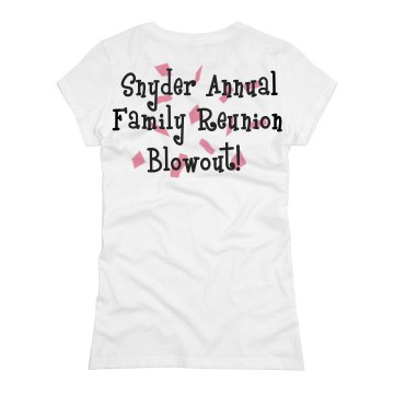 Snyder Reunion w/ Back Junior Fit Basic Bella Favorite Tee