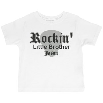 Rockin' Little Brother Toddler American Apparel 3/4 Sleeve Baseball Tee