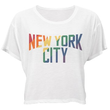 A Gay Lennon New York Bella Flowy Boxy Lightweight Crop Top Tee