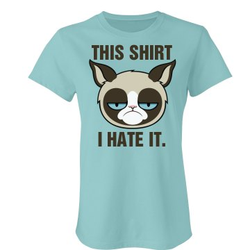 A Grumpy Cat Graphic Tee Junior Fit Bella Favorite Tee
