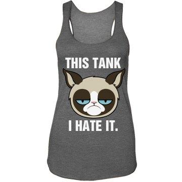 A Grumpy Cat's Tank