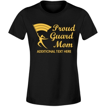 A Proud Guard Mom Misses Relaxed Fit Anvil Lightweight Fashion Tee