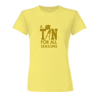 A Tan For All Seasons Junior Fit Basic Bella Favorite Tee