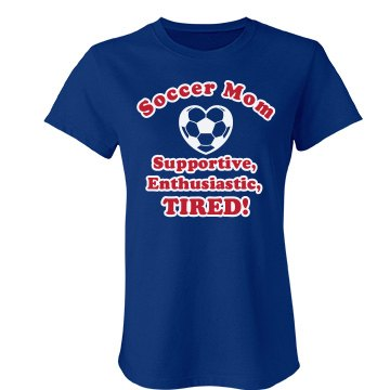 A Tired Soccer Mom Junior Fit Bella Favorite Tee