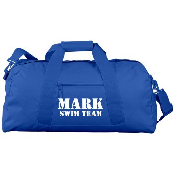 Custom Name Swim Duffel Port & Company Large Square Duffel Bag