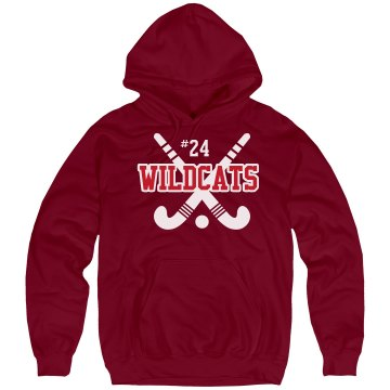 Field Hockey Hoodie Unisex Hanes Ultimate Cotton Heavyweight Hoodie