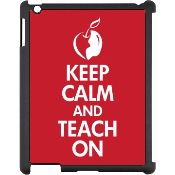Keep Calm and Teach Black iPad Snap-on Case