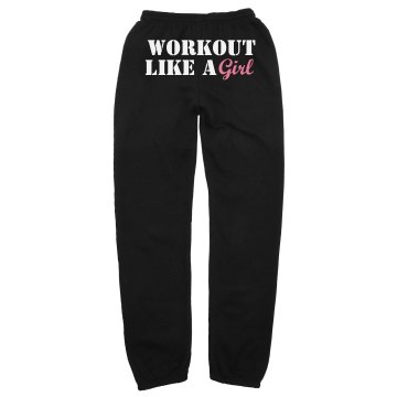 Workout Like A Girl Unisex Gildan Heavy Blend Sweatpants