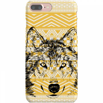Aztec Wolf iPhone Case Plastic iPhone 5 Case White 