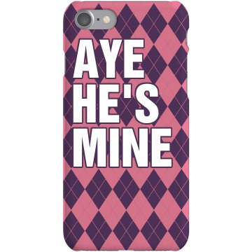 Aye He&#x27;s Mine iPhone Case Plastic iPhone 5 Case White 