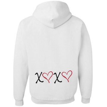 XOXO Hoodie Junior Fit Bella Fleece Raglan Zip Hoodie