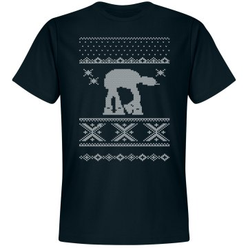 Ugly Sweater Strikes Back Unisex Gildan Heavy Cotton Crew Neck Tee