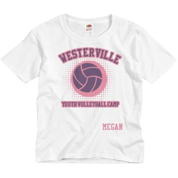 Westerville Volleyball Youth Basic Gildan Ultra Cotton Crew Neck Tee